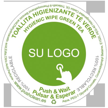 Toallitas-Personalizadas-Push-Clean-Green-Tea