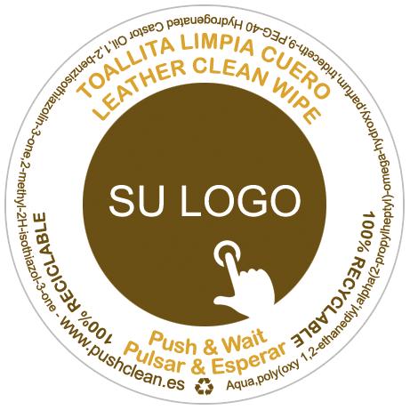 Toallitas personalizadas limpia cuero