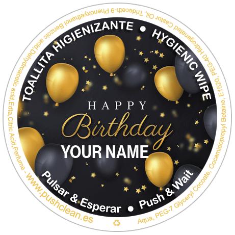 Toallitas personalizadas para cumpleaños 7